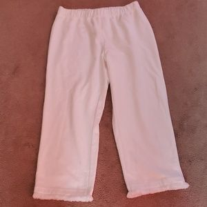 French Terry casual ankle fringe pant